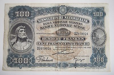 Switzerland 100 FRANKEN FRANCS 1918 VERY RARE