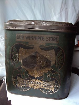 The T Eaton Company Ltd Art Nouveau Tea - Coffe Tin Winnipeg Canada