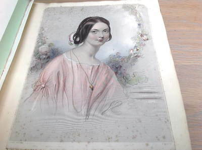 Victorian Scrap Book 1852 - Engravings, Poetry, Cuttings - Over 50 Pages
