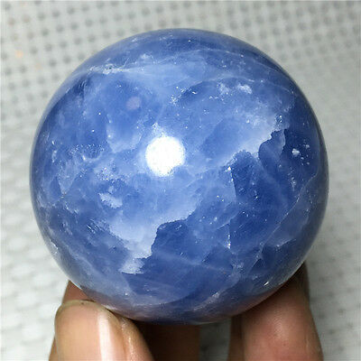 194.8g 51mm natural blue celestite crystal ball to heal #ljq121