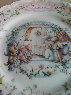 Royal Albert 'carol Singers' Bone China Plate Collection Wind In The Willows'