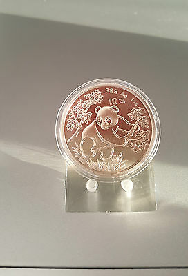 China PANDA 1992 Silber 10 YUAN ORIGINAL 1 Unze 1 OZ Coin Ounce Feinsilber