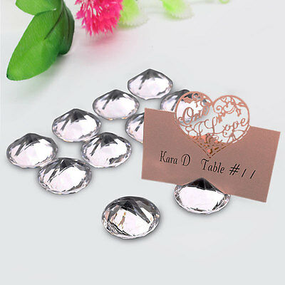10x Diamond Wedding Table Number Stand Place Name Card Holder Decor Seat Crystal