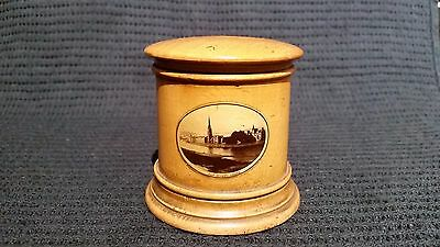 antique Mauchline Ware money box
