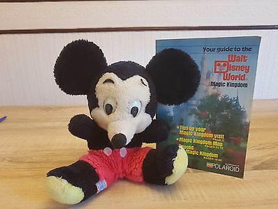 1970's Disney Mickey Mouse Toy and Disney World Magic Kingdom Guide