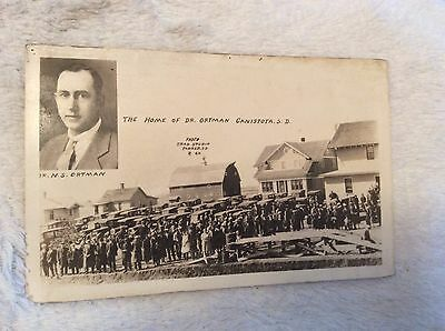 PC8 1900's Home Dr NS Ortman Canistota SD Trade Studio Parker SD Post Card