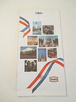 Vintage TEXACO OHIO Oil Gas Station State Road Map~1976 Edition