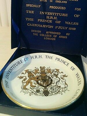 Crown Ducal Royal Memorabilia Investiture of Prince of Wales 1969 small dish
