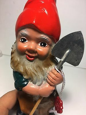 Heissner Garden Gnome with Spade/Shovel #937~NEW IN PACKAGE/TAGS~Smith & Hawken