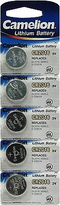 5 x Camelion CR2016 3V Lithium Coin Cell Battery 2016 EXP:2014