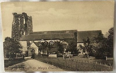Old Postcard - St Mary's Church Walton On Thames Surrey