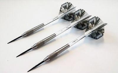80% Tungsten Darts Set - Steel Tip Darts 21 g, Clear Stems + Pentathlon Flights
