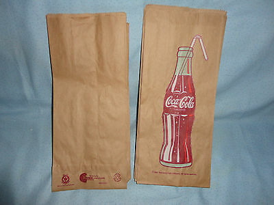 "Vintage 1991 Coca - Cola Lunch Bags Lot of 24 -12 1/2"" by 5 1/2""."
