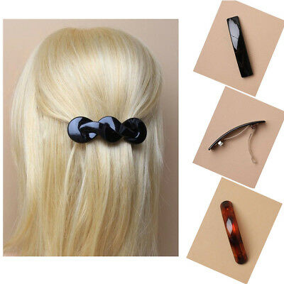 Hair Barrette Clip Pin Clamps Women Fashion Grip Claw Slide Metal Pins Twisted