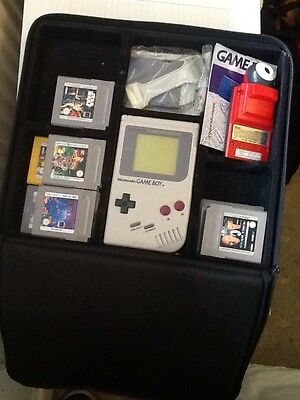 Game Boy Original Console Bundle with 15 games, carry case and more