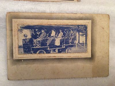 PC12 1900's Humboldt TN Steam Engine Car Bus Truck Trolley? Not Sure Post Card