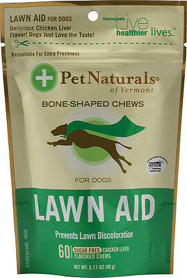 Lawn Aid For Dogs, Pet Naturals of Vermont, 60 tablet