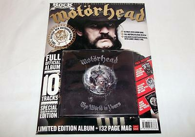Classic Rock Magazine,motorhead,the World Is Yours Fanpack Inc.cd,badge & Poster