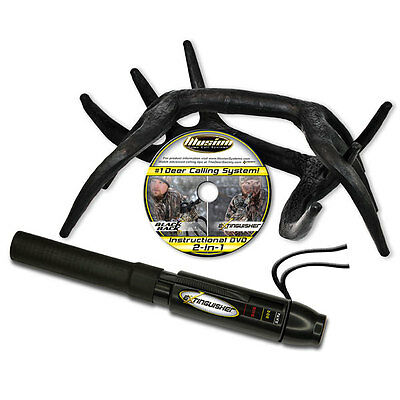 Illusion Whitetail Hunting Call Combo Calling System - Black Rack and Black Call
