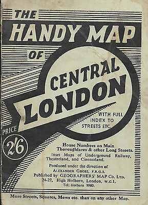 ☆ British ☆ The Handy Map Of Central London