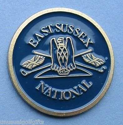 Ball Marker Painted Golf Design Coin East Sussex National Golf Club 16 Yrs Old