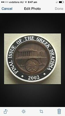 2002 korea  final issue greek silver  COIN