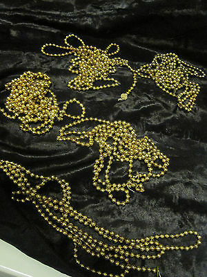 VTG MERCURY GLASS GOLD BEAD GARLANDS for CHRISTMAS/FEATHER TREES