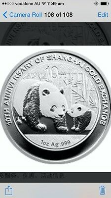 2011 china gold exchange 10th  panda silver coin