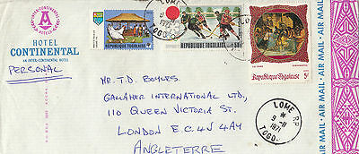 D 785 Togo 1971 cover to UK; ice hockey stamp and more