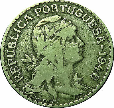 PORTUGAL  1 Escudo  1946           good FINE      Copper Nickel           (5804)