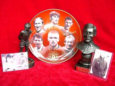 "Manchester United Set George Best Alex Ferguson And 100 Glorious Years 8"" Plate"