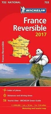 France - Reversible 2017 (Michelin National Maps) Map – Folded Map - 722