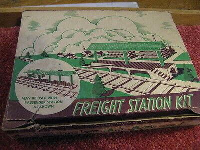 Antique Christmas House Freight Station By   Plasticville