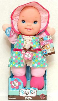 New Baby's First Doll That Giggles Press Her Tummy Plush Soft Body Washable