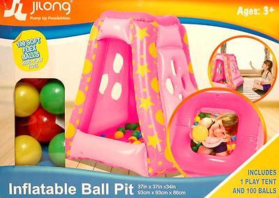 New Inflatable Ball Pit With 100 Soft Flex Balls Brand New Factory Sealed