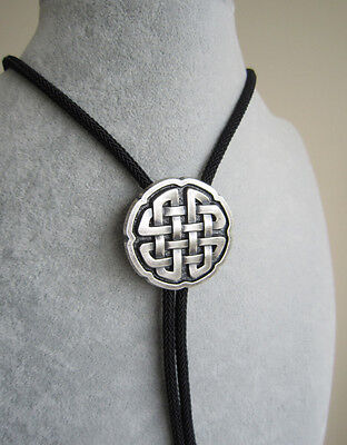 Original Celtic Cross Knot Bolo Tie Necklace With Sky System Faber Braided Rope