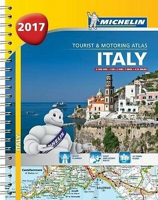 Italy 2017 - A4 Spiral Bound Michelin Tourist and Motoring Atlas (Multilingual)