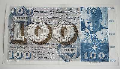 Switzerland 100 Franken Francs 1965