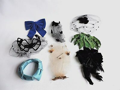 Lot of Vintage Women's Hats, Hair Accessories Fasinators Mid Century  Head Bands
