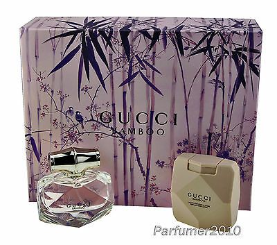 Gucci Bamboo Set 50ml EDT Eau de Toilette Spray + 100ml Body Lotion Neu & OVP