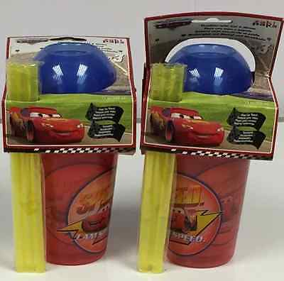 Set Of 2 Exclusive Disney Cars Tumblers With Lid And Straw 3 Pack