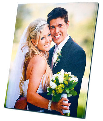 16x12 Inch Personalised Wedding Photo Canvas Print Wall Art FREE UK DELIVERY