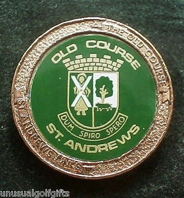 Old Stem Golf Ball Marker - Old Town Crest St Andrews - Now 20+  Years Old