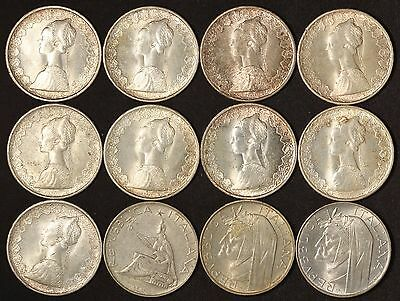 Italy 500 Silver Lire Collection - Nice Coins - Free Shipping US