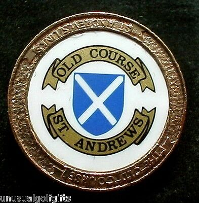 Old Stem Golf Ball Marker - The Old Course St Andrews - Now 20+  Years Old