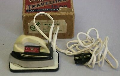 Vintage 1950s Clem Travelling Iron in original box vgc DISPLAY ONLY