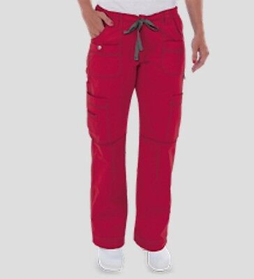Dickies Gen Flex Scrubs Womens Youtility Cargo Pants Crimson Red S Small TALL