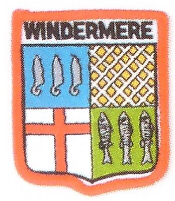 Windermere Embroidered Patch Lake District England  The Lakes Cumbria