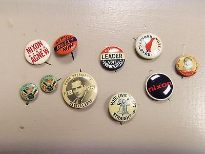 old political pins lot of 10