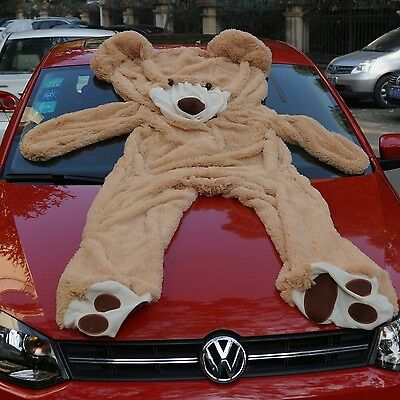 """78""""(6.5 Feet) Giant Teddy Bear Cover Light Brown Semi-Finished No Filler Cotton"""